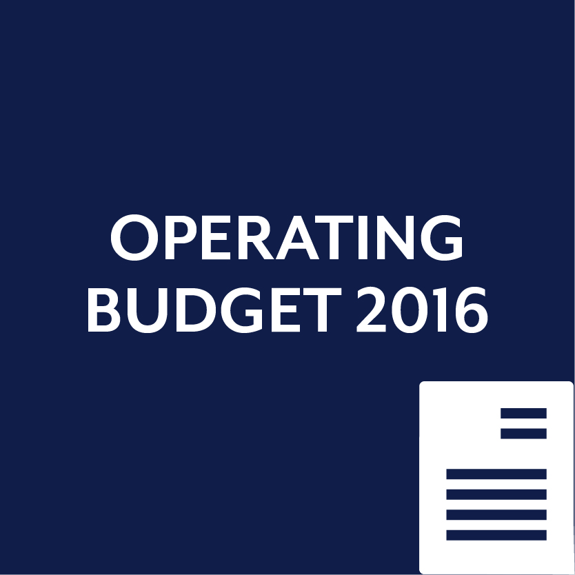 Both RTF and PDF available for the 2016 Operating Budget