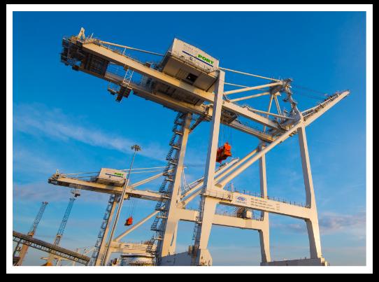The Port Gantry Crane and a blue sky