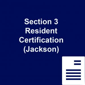 Section 3 Resident Certification Jackson
