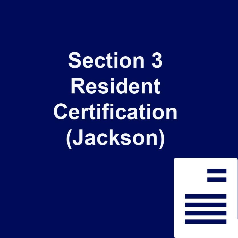 Section 3 Resident Certification Jackson Port Of Gulfport Mississippi