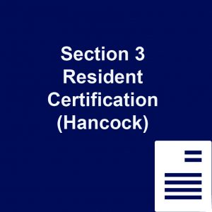 Section 3 Resident Certification Hancock