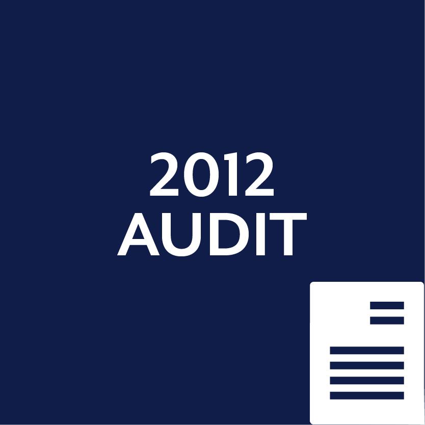 2012 Audit