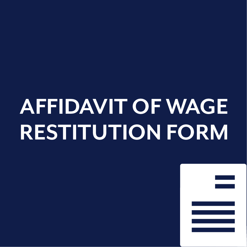 Affidavit of Wage Restitution Form