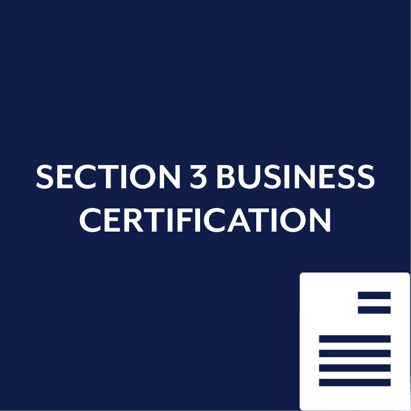 Section 3 Business Certification