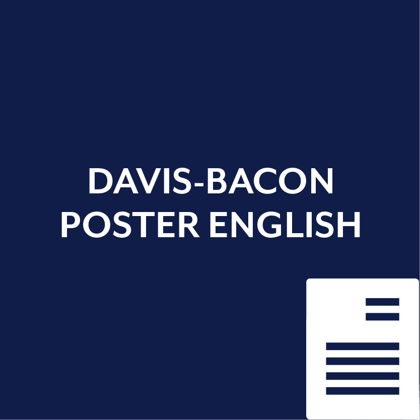 Davis Bacon Poster in English