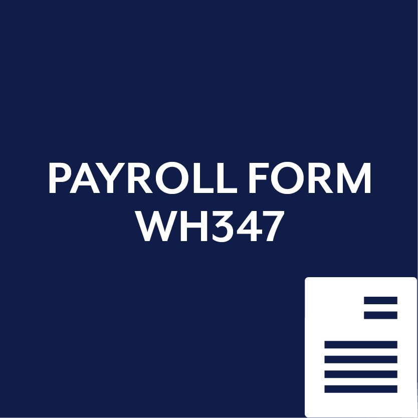Payroll Form WH347