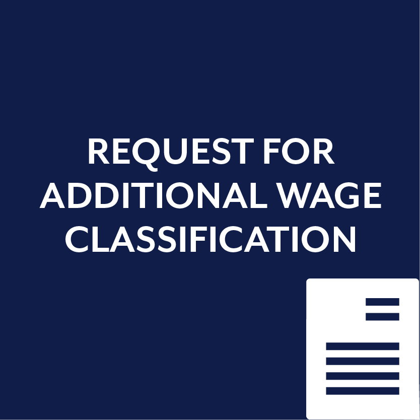 Request for Additional Wage Restitution Form